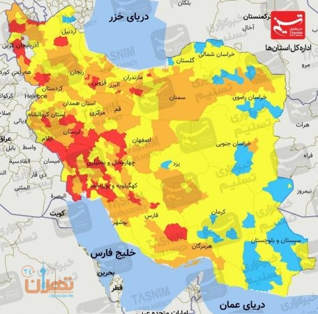 آخرین اخبار کرونا در ایران  موج چهارم کرونا در تهران آغاز شد/ روزهای سخت کرونایی در راه است+ نقشه و نمودار